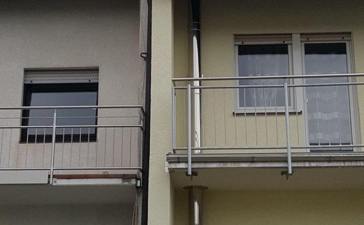 Außenkamin durch Balkon